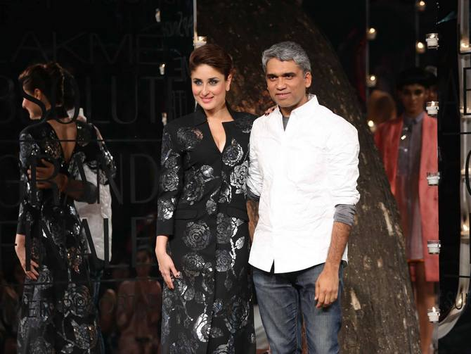 Kareena Kapoor with Rajesh Pratap Singh creation