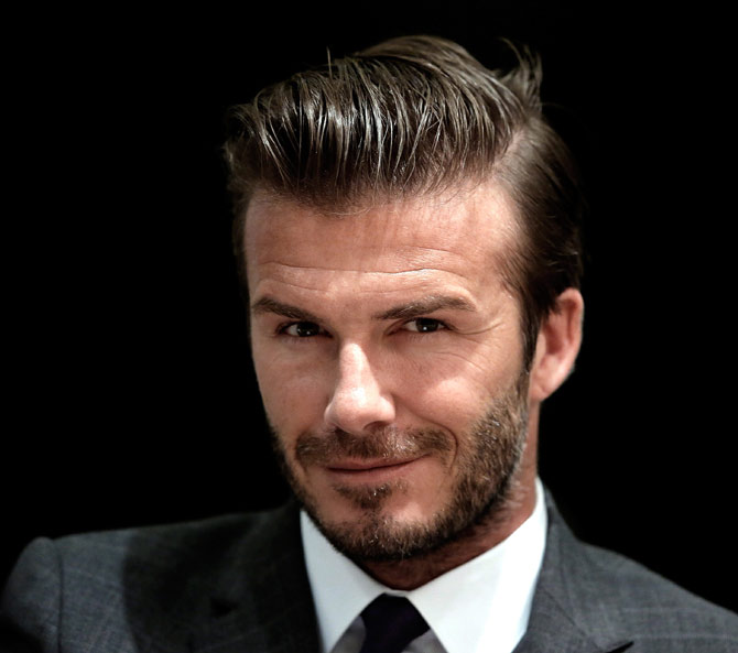 David Beckham attends a forum for Chinese Super League at Hilton Hotel in Nanjing, Jiangsu Province of China.
