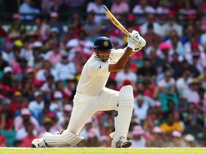 Rahul Dravid bats during day three of the Second Test Match between Australia and India at Sydney Cricket Ground in Sydney, Australia.