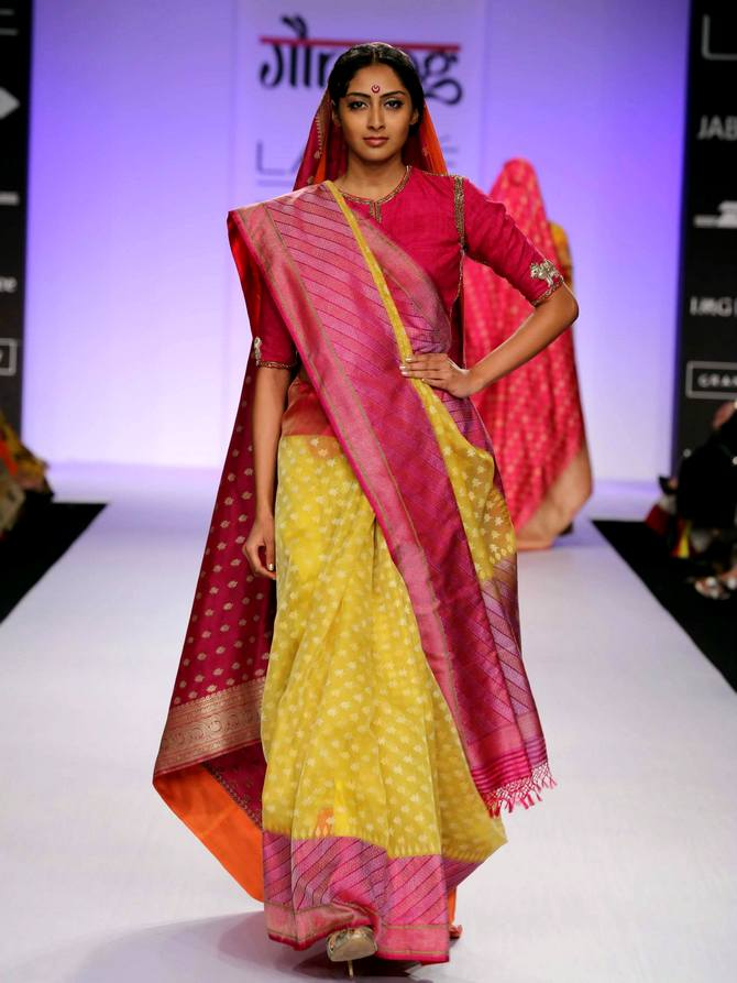 A model in a Gaurang Shah creation