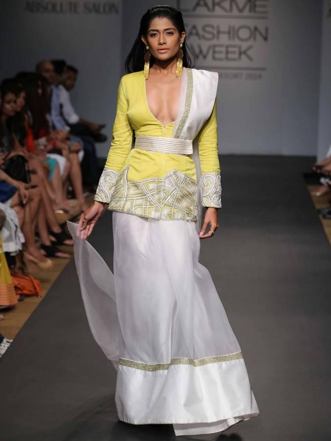 A model in a Ritika Mirchandani creation