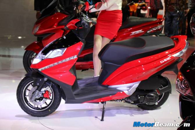 Hero MotoCorp's 125cc scooter Dare at the Auto Expo 2014