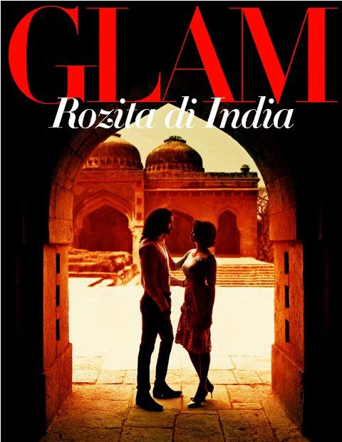 Amit Ranjan on the cover of the Malaysian magazine Glam with actor Rozita Che Wan.