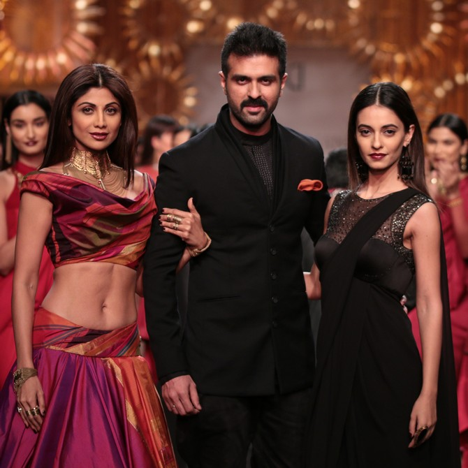 Shilpa Shetty, Harman Baweja and Ayesha Khanna