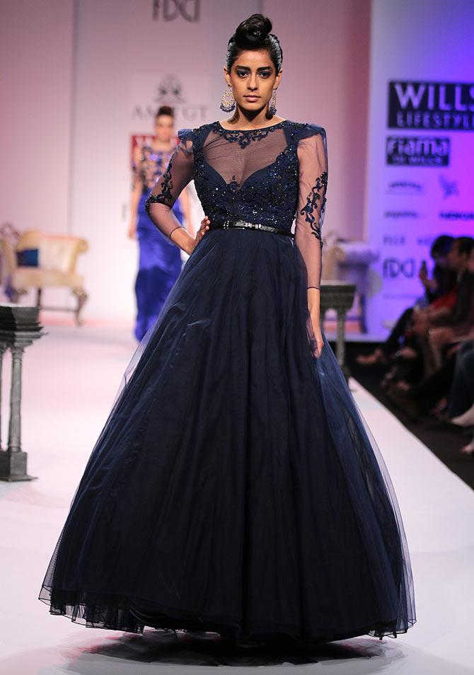 Diva Dhawan in a Charu Parasher creation