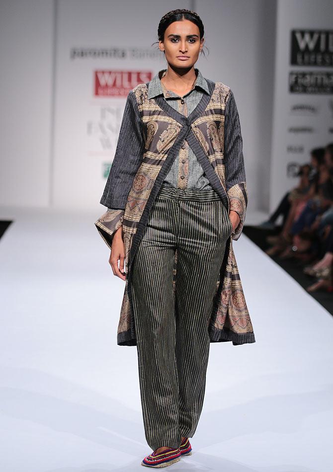 A model in a Paromita Banerjee creation
