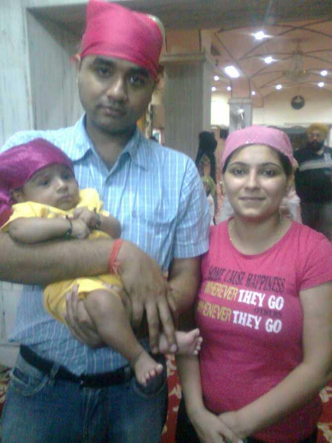 Parth with Rinoshita and their baby boy