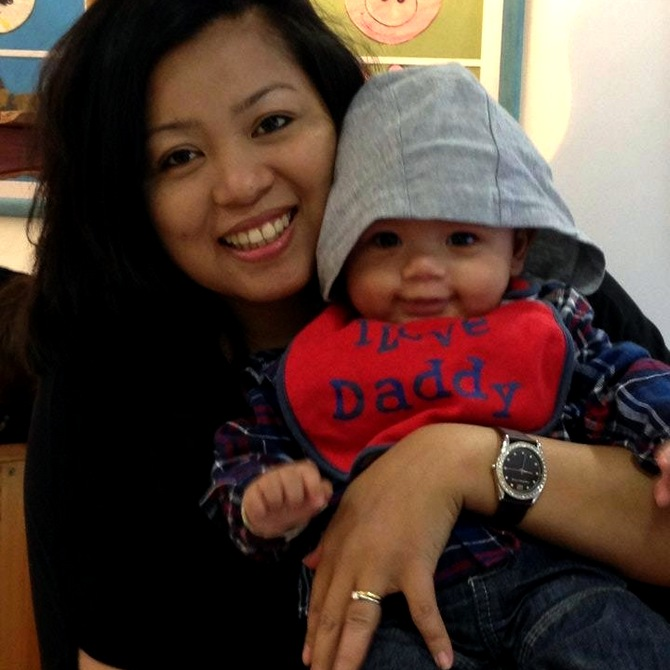 Trisha Chakma with her son Aiden