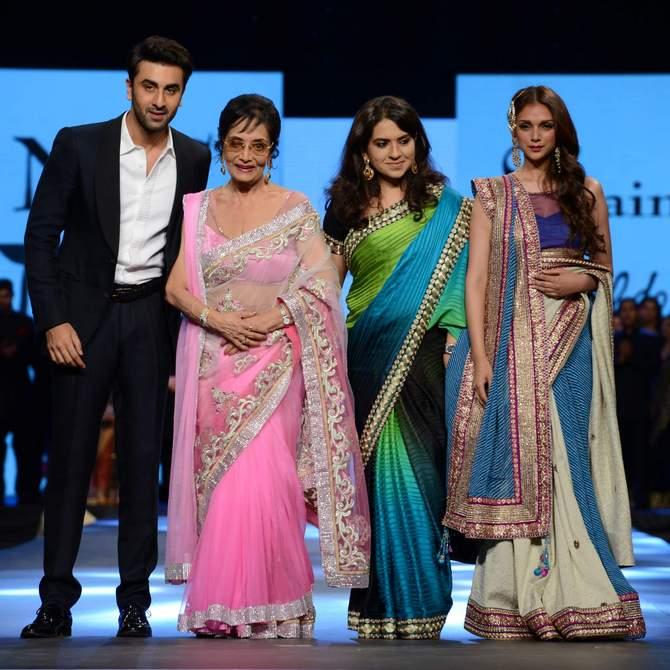 (L-R) Ranbir Kapoor, Sadhna, Shaina NC and Aditi Rao Hydari