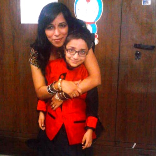 Kamini Chauhan with her son Moksha