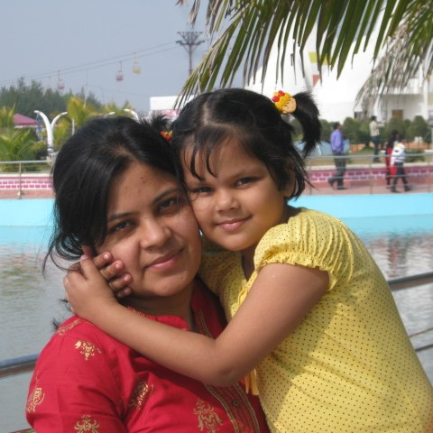 Shiny Acharjee with her little one