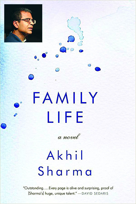 The cover of Family Life; Inset: Akhil Sharma