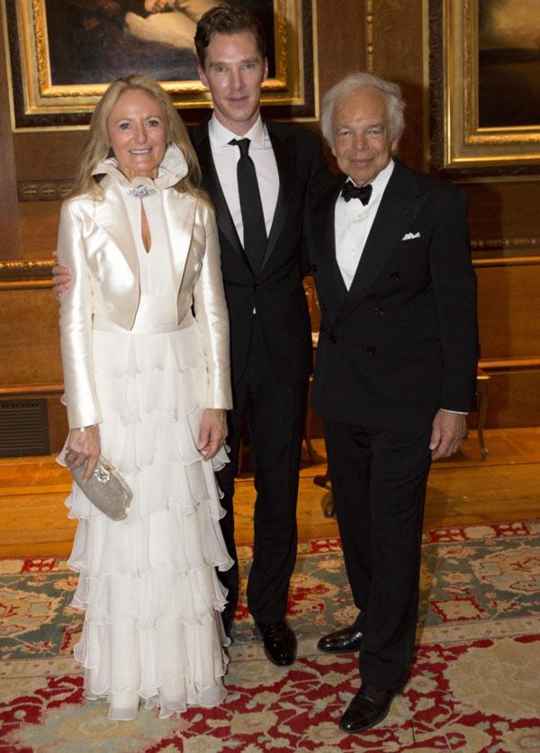 Benedict Cumberbatch, Ricky Anne Loew-Beer and Ralph Lauren