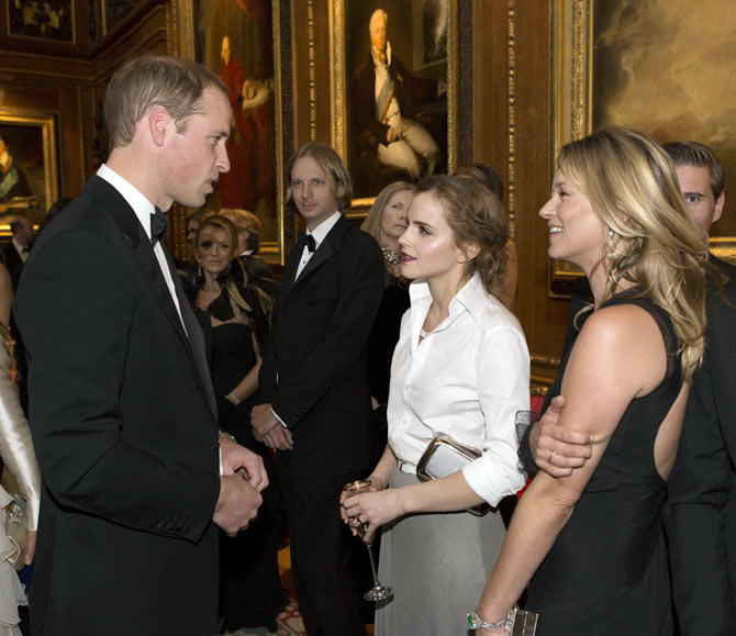 Prince William, Emma Watson and Kate Moss