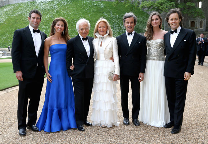 Ralph Lauren with his wife Ricky Anne Loew-Beer along with the other members of his family.