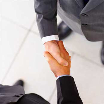 A firm handshake will portray you as a confident candidate.