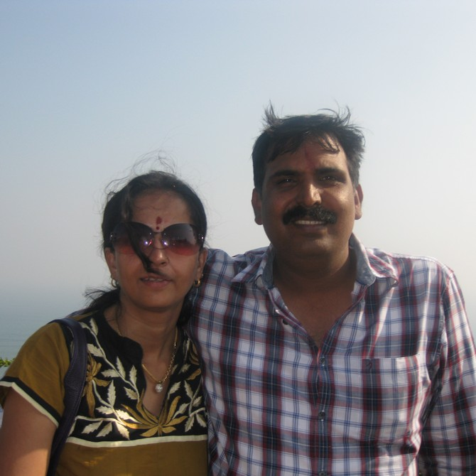 Supriya Nair with her husband