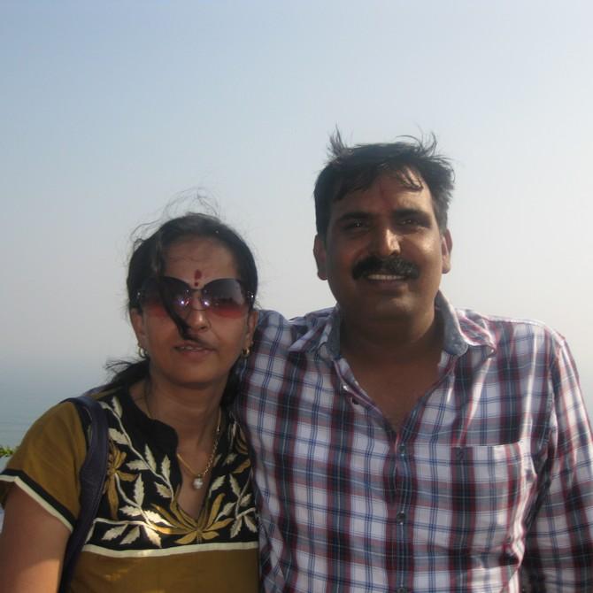 Supriya Nair with her husband