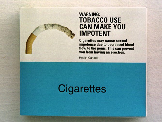 Cigarettes don't make you look macho... but they do make you... well... the picture says it all, doesn't it?