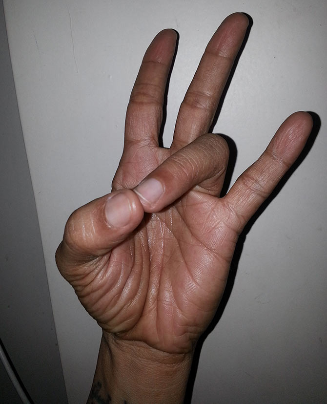 Prithvi mudra (Earth element hand gesture)