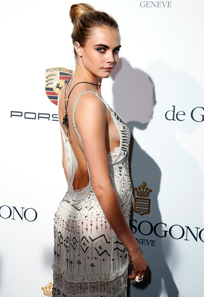 Model Cara Delevingne attends the De Grisogono Party during the 67th Cannes Film Festival in Antibes, May 20, 2014.