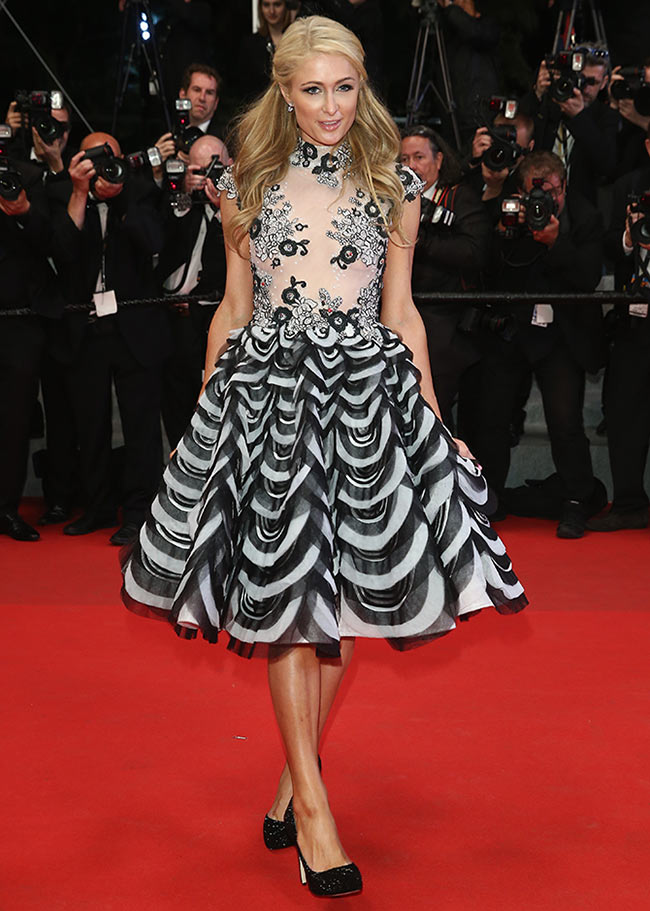 Paris Hilton attends The Rover premiere during the 67th Annual Cannes Film Festival in Cannes, France
