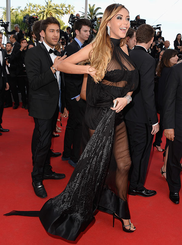 Nabilla Benattia attends The Homesman Premiere at the 67th Annual Cannes Film Festival on May 18, 2014 in Cannes, France.