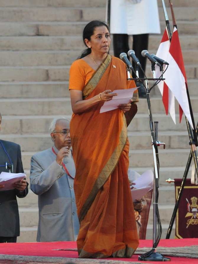 Nirmala Sitharaman is the Minister for State for Commerce and Industry (Independent Charge), Corporate Affairs and Finance.