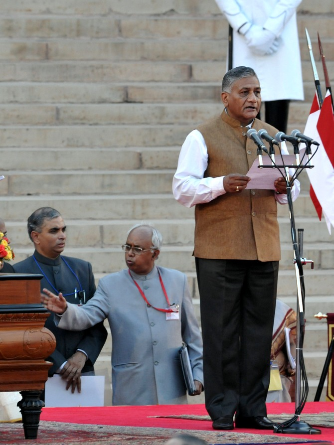 General (Retd) VK Singh is the Minister of state for Development of North Eastern Region (Independent Charge), External Affairs and Overseas Indian Affairs.