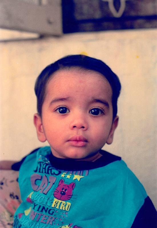 Abhilash Vidyakar when he was a kid