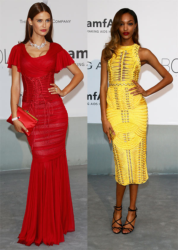 Bianca Balti and Jourdan Dunn attends amfAR's 21st Cinema Against AIDS Gala