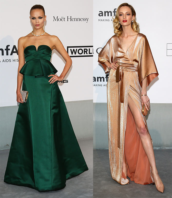 Natasha Poly and Daria Strokous at the 67th Annual Cannes Film Festival.