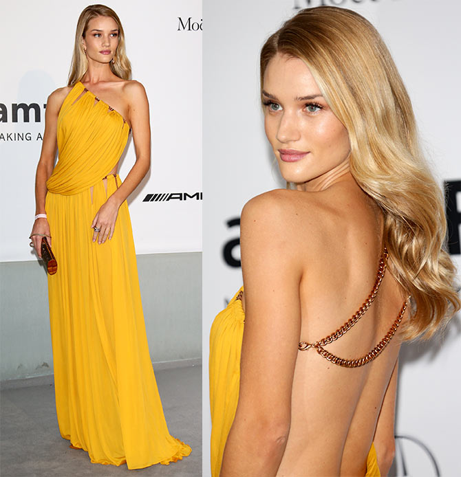 Rosie Huntington-Whiteley attends amfAR's 21st Cinema Against AIDS Gala.