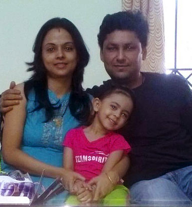 Arvind Kumar with his family