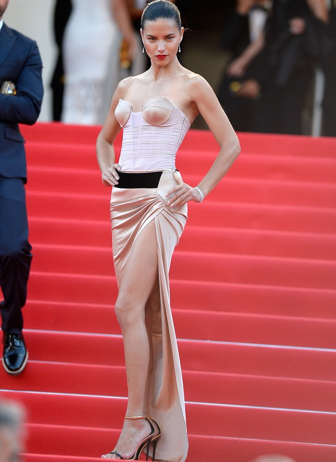 Adriana Lima at 'The Homesman' premiere at the 67th Annual Cannes Film Festival in Cannes, France.