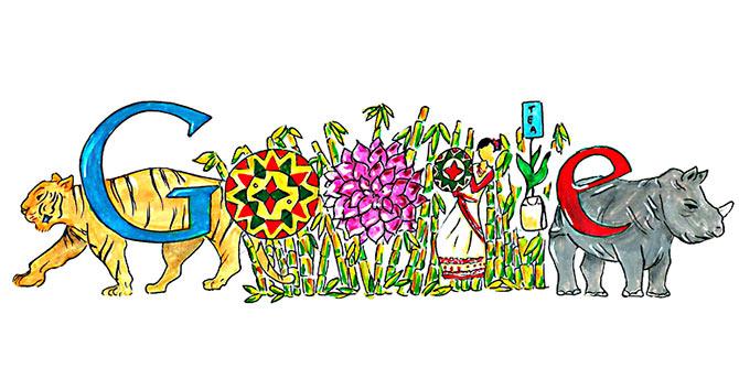 children s day pune girl vaidehi reddy doodles for google rediff