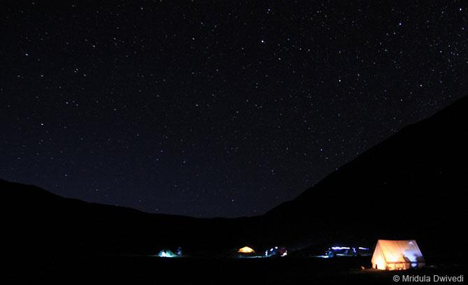 A view of the Himalayan night sky at Batal