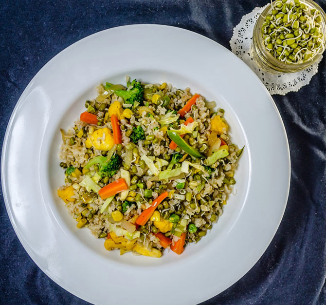 Latest News from India - Get Ahead - Careers, Health and Fitness, Personal Finance Headlines - Recipe: Brown Rice and Sprouts Pulao