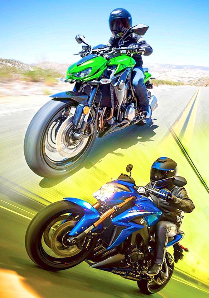 Suzuki GSX S1000 vs Kawasaki Z1000