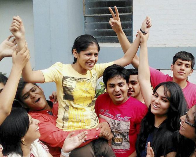 Latest News from India - Get Ahead - Careers, Health and Fitness, Personal Finance Headlines - New Delhi girl tops CBSE Class 12 results