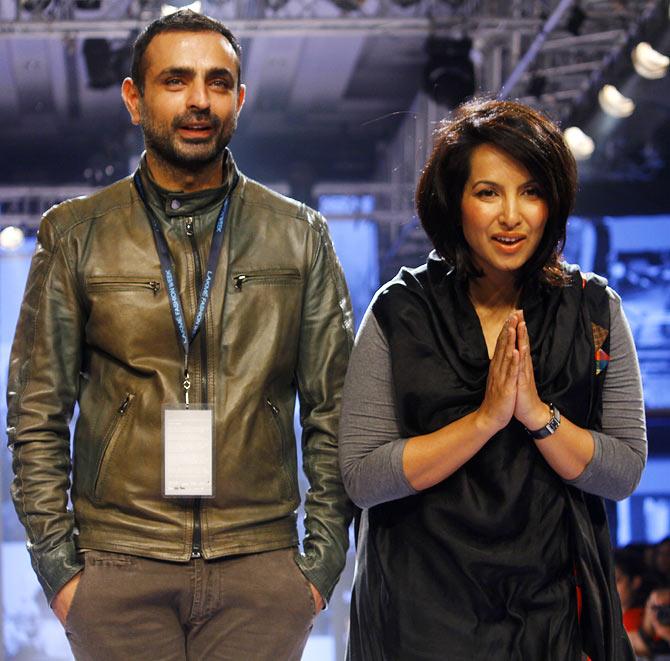 Mayank Anand And Shraddha Nigam At Lakme Fashion Week