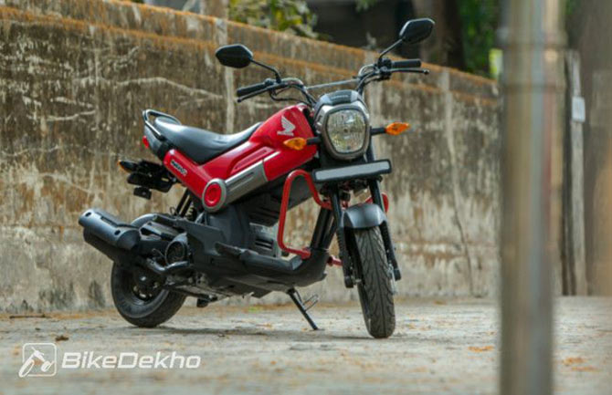 Cute and quirky honda navi first ride get ahead for Motor cycle without gear