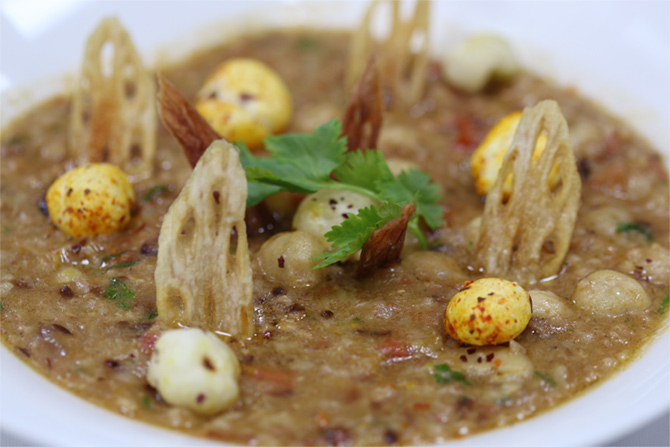 Lotus Seed and Broken Wheat Khichdi by executive chef Sahil Sabhlok, The Claridges, New Delhi