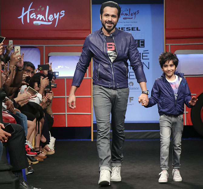 Latest News from India - Get Ahead - Careers, Health and Fitness, Personal Finance Headlines - Emraan's son turns showstopper for Diesel