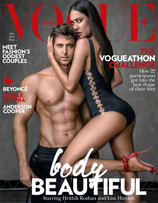 Hrithik and Lisa on Vogue India cover