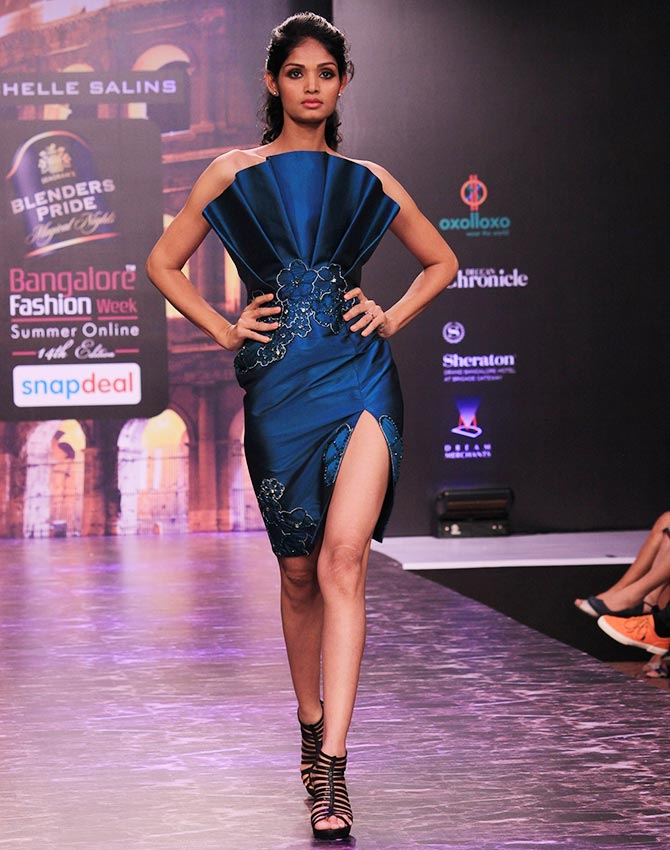 Mandana is a fairy princess get ahead Bangalore fashion style week