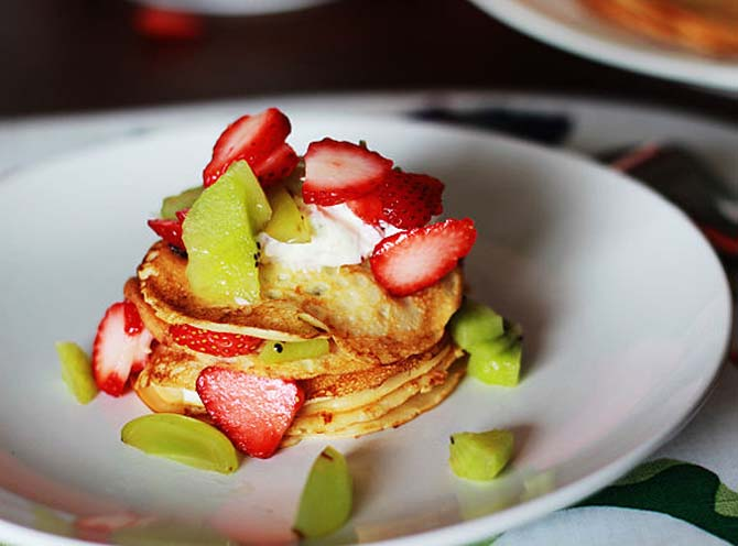 Strawberries and Cream Pancake