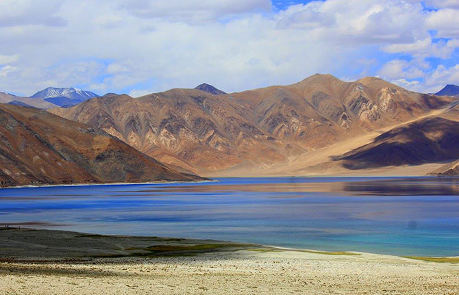 Pangong Tso lake. Photograph: Kind courtesy Sudhir Babu