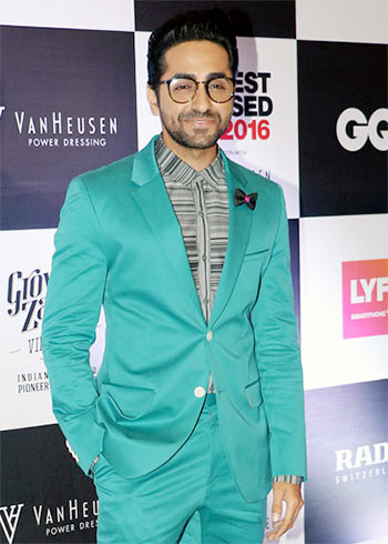 Latest News from India - Get Ahead - Careers, Health and Fitness, Personal Finance Headlines - A green suit? What was Ayushmann thinking?