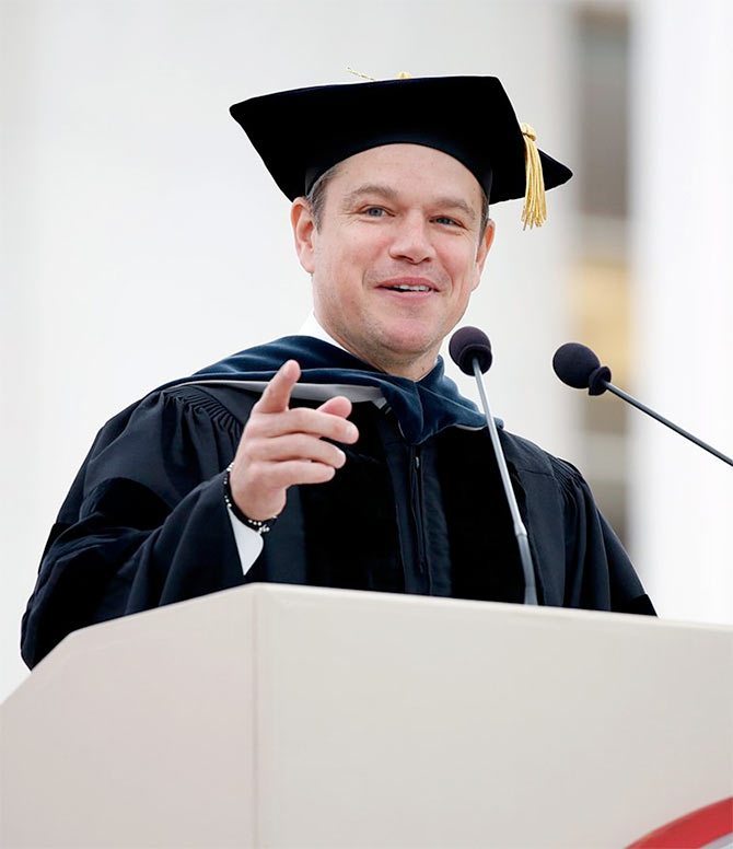 Latest News from India - Get Ahead - Careers, Health and Fitness, Personal Finance Headlines - 7 lessons from Matt Damon's MIT speech